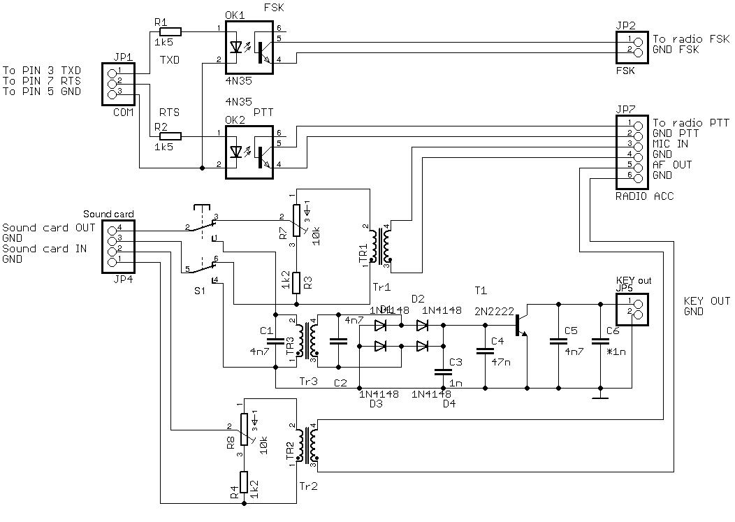 OK1RR Interface Schematic