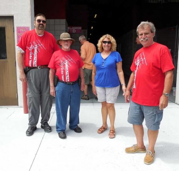 Ben & Randy ARRL representatives with Net and Den