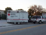 Communications trailer arriving the evening before the marathon.  Thanks to the American Red Cross for their support.