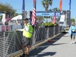 Justin, KJ4FCZ, near the finish line.