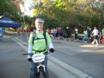 Laura, KJ4IJV, bicycle mobile on the course.